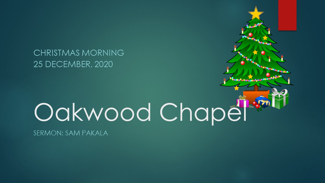 Christmas morning service live stream, 25 December 2020
